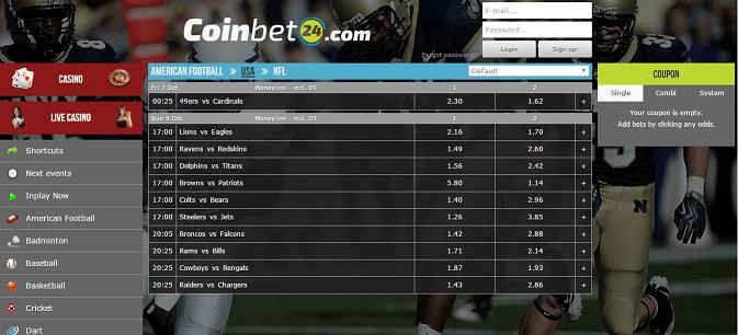 Coinbet24.com bitcoin-only sportsbook & casino