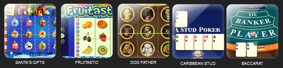 Bitbet.com casino games screenshot