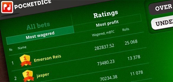 pocket dice new ratings feature
