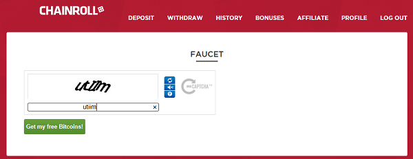 Chainroll bitcoin faucet
