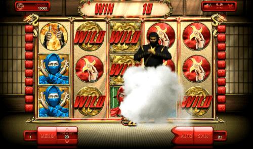 Black Ninja disappears into the smoke