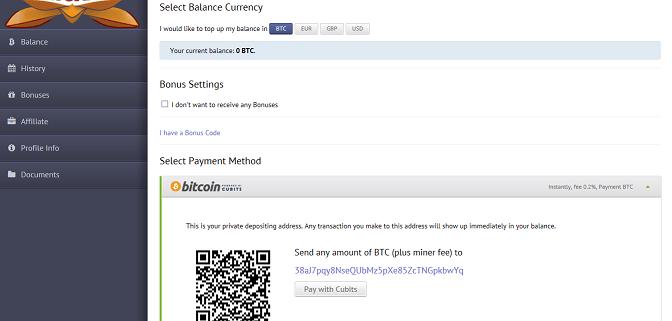bitcoin deposit