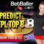 Irish Bitcoin Casino BetBaller offering 150 btc for correctly predicting Premier League Top 8