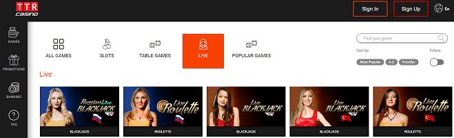 bitcoin casino review: TTR.casino