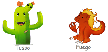 Tusso & Fuego characters