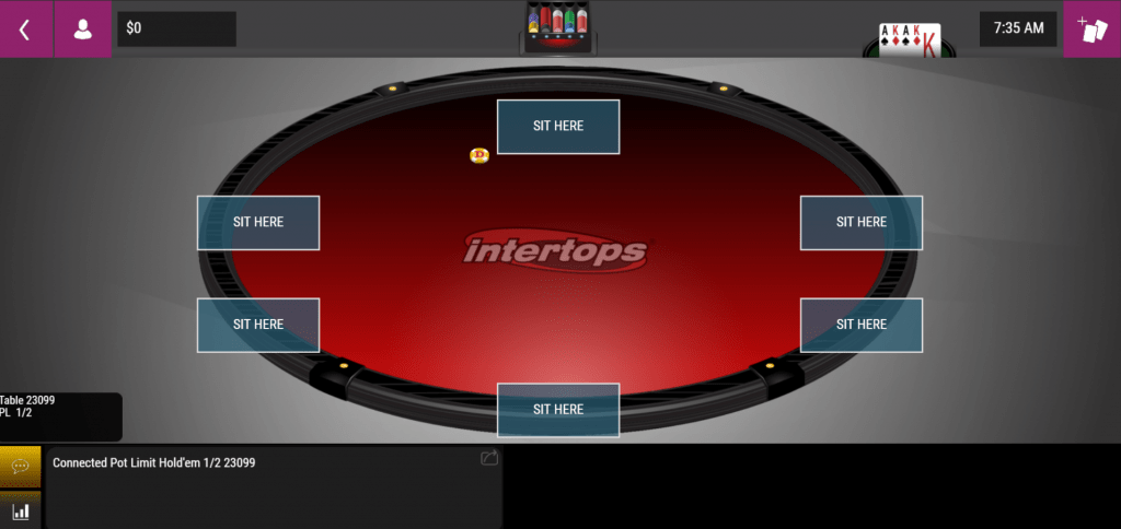 Intertops Instant play poker