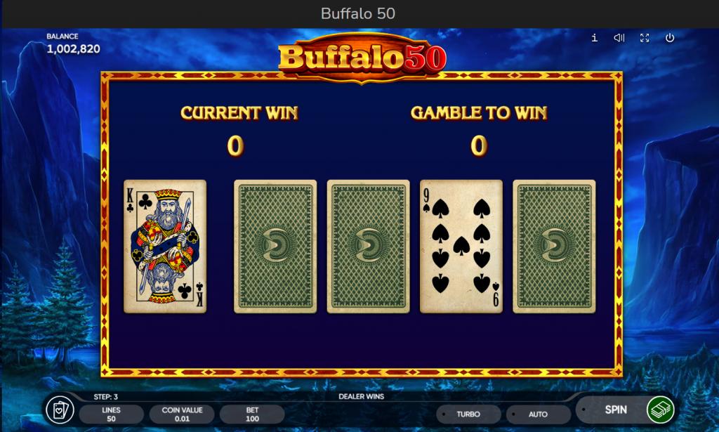 risk game (gamble) - Buffalo 50 slot