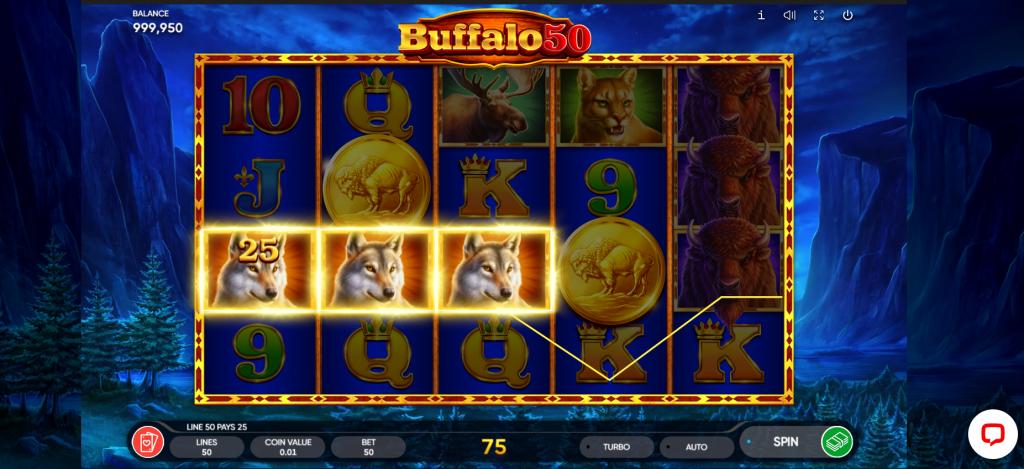 buffalo 50 slot game screenshot